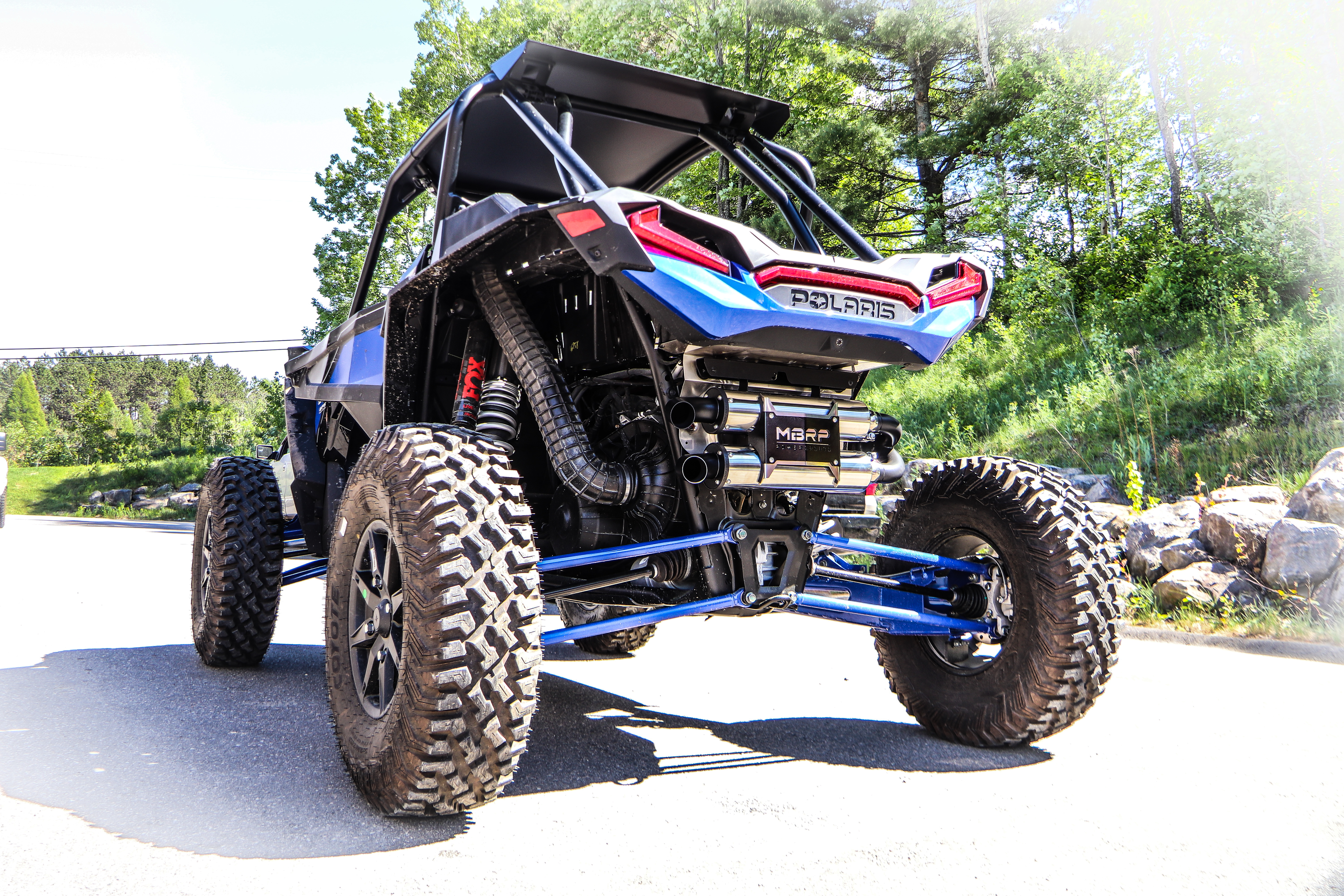 MBRP Powersports RZR XP 1000 Slip-on Dual Stack Performance Exhaust