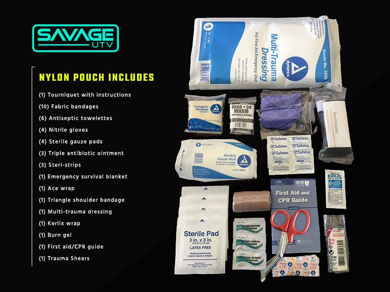 What's included in the Savage UTV First Aid